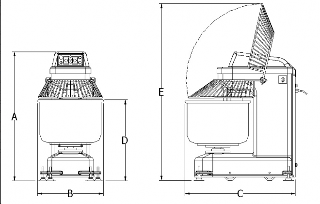Spiral Mixer 40 KG